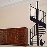 Qinyubing Escalera De Caracol Diy Vinilo Adhesivos De Pared Sala De Estar Dormitorio Habitación Infantil Decorativo Para El Hogar 59 * 120 Cm