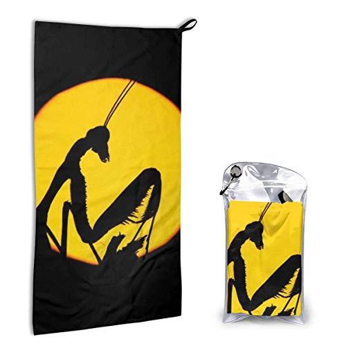 Toallas de Secado Rápido Mantis en la Noche Toalla de Playa Súper Absorbente Toalla de Viaje Ligera para Acampar Senderismo Deportes 15.7 x 31.5 Pulgadas
