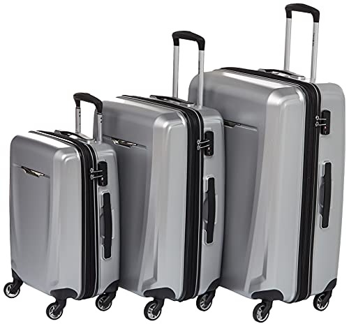 Samsonite Winfield 3 DLX Hardside Expandable Luggage with Spinners, Silver, Carry-On 20-Inch