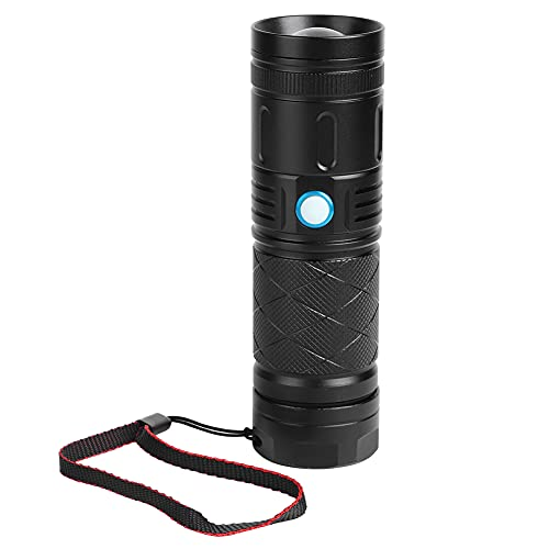 BHDK Linterna Ajustable, Conveniente y práctica, Linterna LED, para Acampar, Caminar de Noche, iluminar, Caminar,