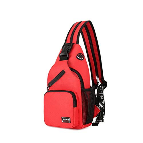 Women Small Backpack Casual Girls Chest Bag with Earphone Hole Travel Backpack Multi Functional Rucksacks