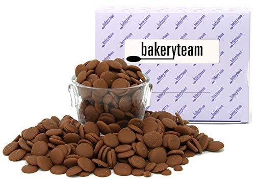 bakeryteam EDEL-Vollmilchschoko-Kuvertüre 400g GRÖMITZ mind. 38% Kakaogehalt Chips auch für unser Schokoladen selber mach Set
