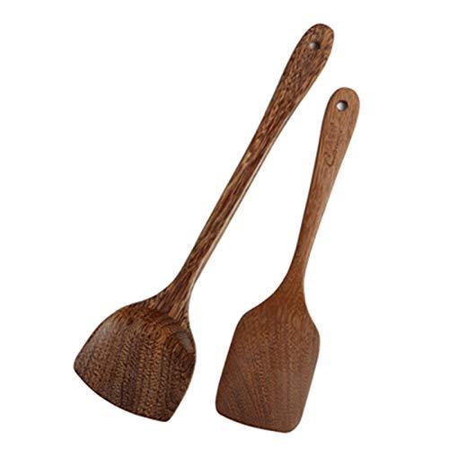 LILANPING- Holzküchenutensilien Sind Beständig Gegen Hohe Temperaturen Und Verletzen Die Pfanne Nicht Leicht Zu Verformen