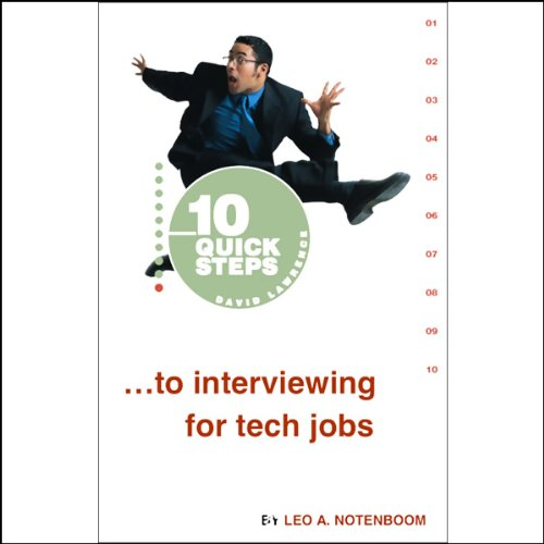 10 Quick Steps to Interviewing for Tech Jobs audiobook cover art