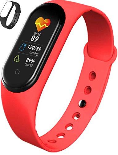 Smartwatch Fitness Tracker Hombres Mujeres Monitor de Ritmo cardíaco Muñequera Podómetro Rastreador...