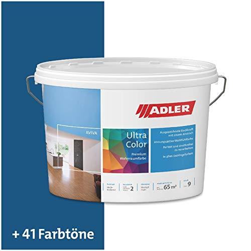 ADLER Ultra-Color Wandfarbe - Volltonfarbe und Abtönfarbe in 100+ Farbtönen - Honeymoon C12 153/4 Blau 1 l Atmungsaktiv, Hochdeckend, Lösungsmittelfrei