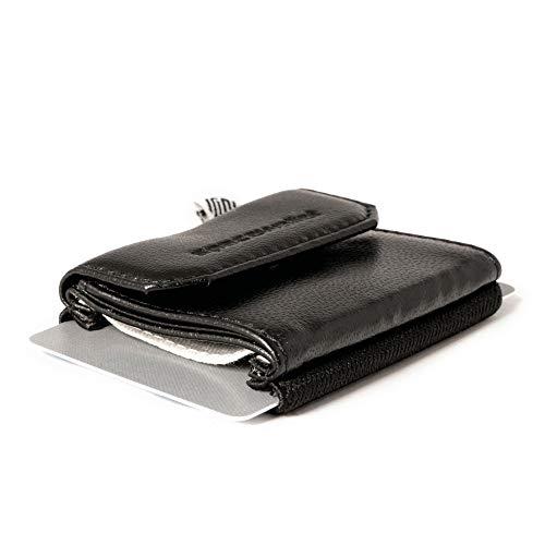 Space Wallet Push Geldbeutel mit RFID Schutz I Echtleder Portemonnaie für bis z...