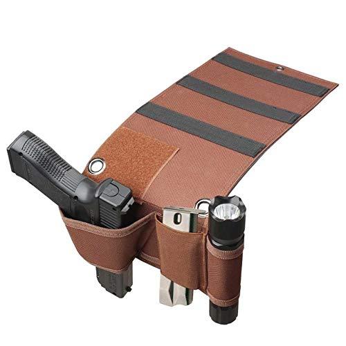 Gexgune Gun Holster Táctico de cabecera del colchón Negro para Beretta 92 Glock 18 19 26 1911 9 mm Funda (2 Colores Opcionales)