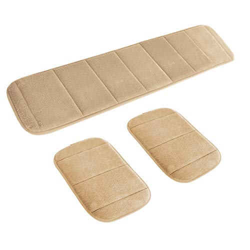 2 Sets Ergonomic Computer Elbow Wrist Pad, AUHOKY Long & Short Size Combination Keyboard Wrist Rest Elbow Support Mat for Office Desktop Working Gaming - Memory Foam Relieve Elbow Pain (Camel)