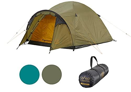 Grand Canyon TOPEKA 2 - Tente dôme pour 2 personnes | ultra-légère, étanche, petit format | tente pour le trekking, le camping, l'extérieur | Capulet Olive (Vert)