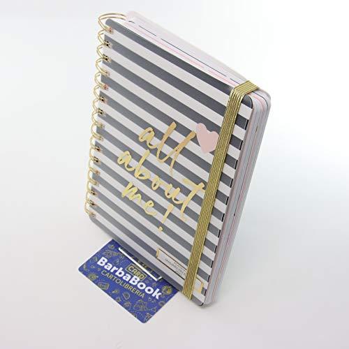 AGENDA SETTIMANALE 2021 SPIRALATA TRICOASTAL CM. 16 X 21 ALL ABOUT ME + VIP CARD BARBABOOK CARTOLIBRERIA