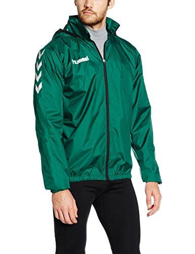 Hummel trainingsjack, waterafstotend, jas met capuchon, ademend, hardshelljack voor heren, allweather jack, sport en vrije tijd, diverse Kleuren: