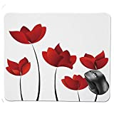 fghjdfcnfd Gaming Mouse Pad,Valentines Inspired Exquisite Rose Petals Vivid Blossoms Florets Nature Illustration