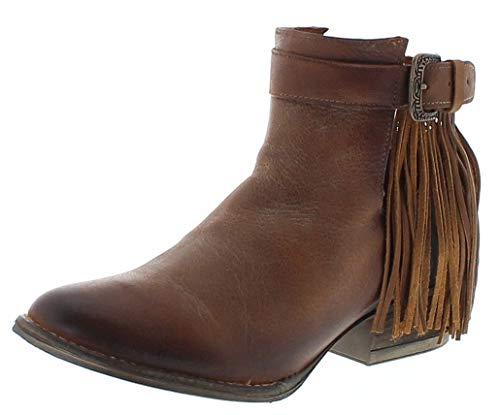 Corral Boots Damen Stiefelette Q0030 Brown Lederstiefel Lederschuhe Braun 39.5 EU