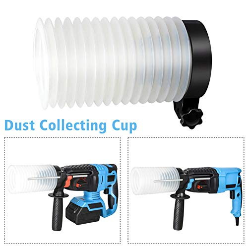 5Pcs Electric Impact Drill Dust Collector Attachment, Universal Dust Shroud Hammer Drill Dust Cover