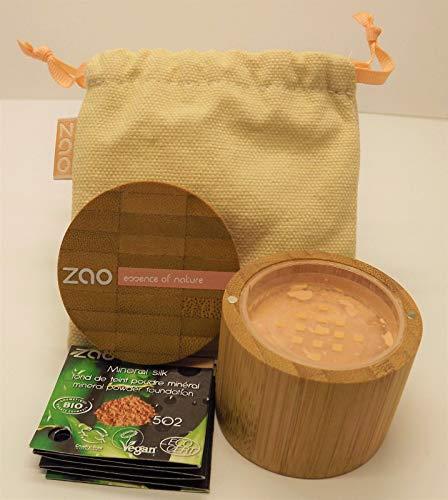 ZAO Mineral Silk 502 rosa-hell-beige loser Puder, Mineral-Make-up in Bambus-Dose (bio, Ecocert,...