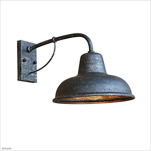 AXWT Extérieur Vent Industriel Vent Lampe murale Art de fer Nostalgique Américain Simple Porte Murale Extérieur Lumière Jardin Extérieur Étanche Balcon Jardin Applique Murale (ampoule non incluse)