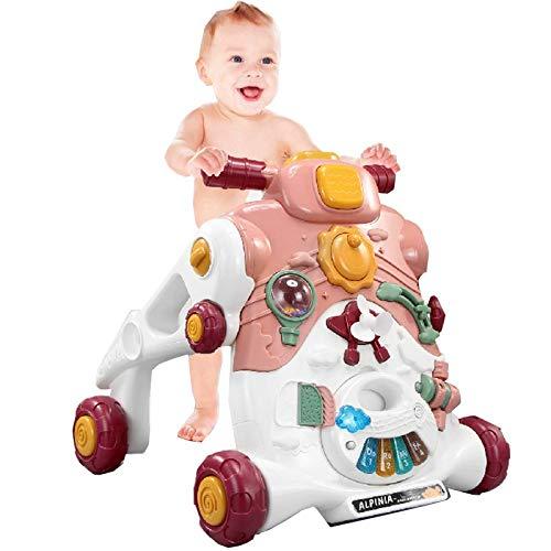 Versión actualizada de Cochecito Divertido para niños Multifuncional, Caminante para niños de Tres en uno para 1-5 años de Edad, niño Educativo, Regalo de cumpleaños boygirl TINGG (Color : A)