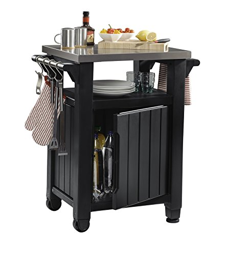 Keter Unity Universal Portable Grilling Cart and Prep Station