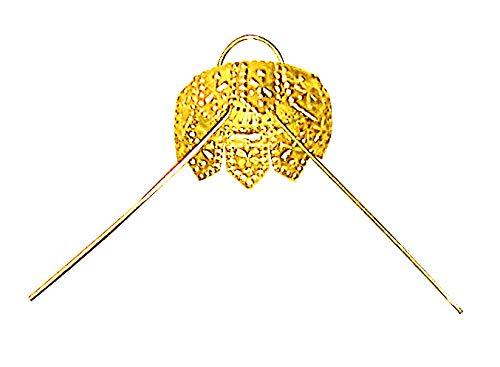 National Artcraft Gold Ornament Cap is 3/4' Round (pkg/50, Brass Plated Steel)