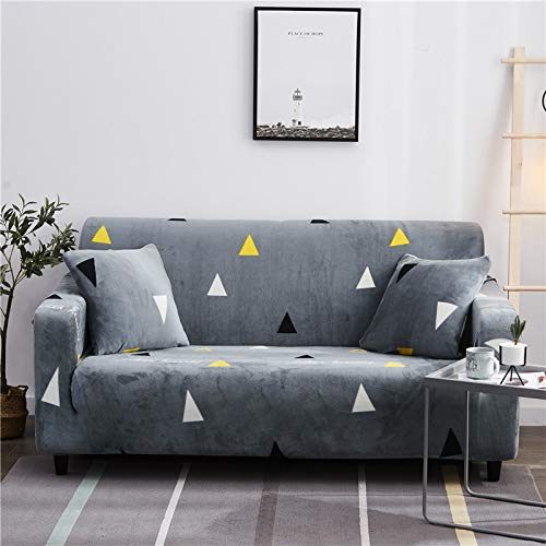 SSHHJ Thickened, Soft And Elastic All-Inclusive Sofa Cover, Christmas Tree Striped Sofa Towel, Non-Furry, Non-Slip, Anti-Fouling And Easy To Install Sofa Chair Cover
