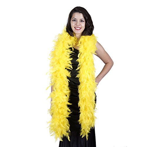 ZUCKER Heavy Weight Chandelle Feather boa Solid Colors - Yellow