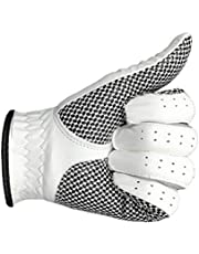 OTentW Echt lederen golfhandschoenen mannen links rechts hand zachte ademende pure schapenvacht golf handschoenen golf accessoires
