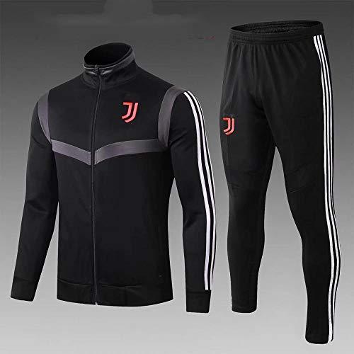 WXHMKGG Herren Schwarz Kinder Fußballbekleidung Verein Uniform Langarm Trainingsanzug Wettkampfanzug 28#