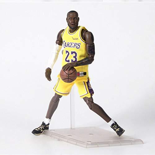 PLL NBA Lebron James Action-Figur Lakers Jersey Modell populäre Karikatur-Geschenk-Spielzeug Dekorationen Basketball Sport Puppe Ornamente
