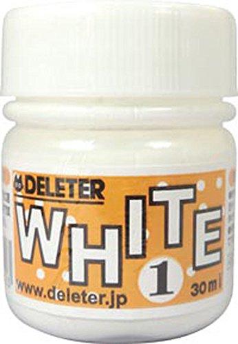 DELETER Manga Ink, White 1, Multi-purpose White Ink for dip pen & brush, Flows well, 30ml/bottle, 1 Bottle (341-0002)