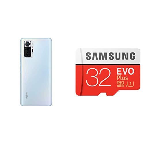 [SDカードセット]Xiaomi Redmi Note 10 Pro 6+128GB グレイシャーブルー+Samsung EVO Plus 32GB microSDHC【日本正規代理店品】