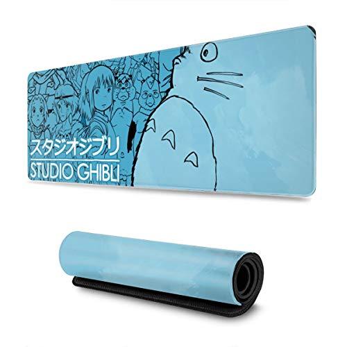 Gaming-Mauspad, Schreibtisch-Mauspad, groß, 30 x 80 cm, bequemes Mauspad mit personalisiertem Design für Laptop, Computer und PC – Studio Ghibli