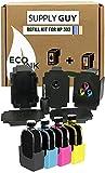 SupplyGuy Tinta de Recarga Compatible con el Juego de Recarga HP 302 XL - Negro + Color - Incl. Accesorios para la Recarga fácil y Limpia de los Cartuchos de Tinta de la Serie 302 / 302XL