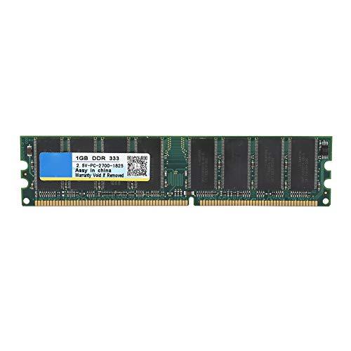 Tosuny 1G Desktop-Speicher, 1 GB 333 MHz 2,5 V 184-poliger DDR-PC-2700-Desktop-Computerspeicher RAM Kompatibel für Intel und AMD-Motherboards