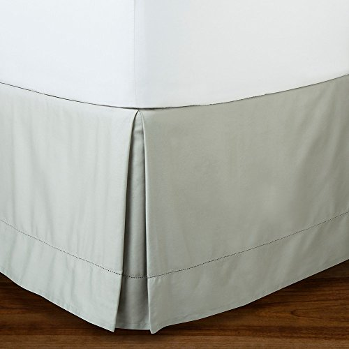 Fieldcrest Luxury, HemStitch Framed Bedskirt, Skyline Gray, QUEEN