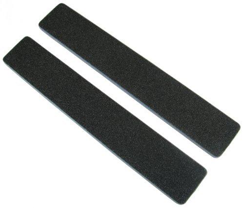 Standard Black 80/80 (Blu Ctr) 1-1/8 Wide Washable Jumbo Nail File by Jaylie by Jaylie