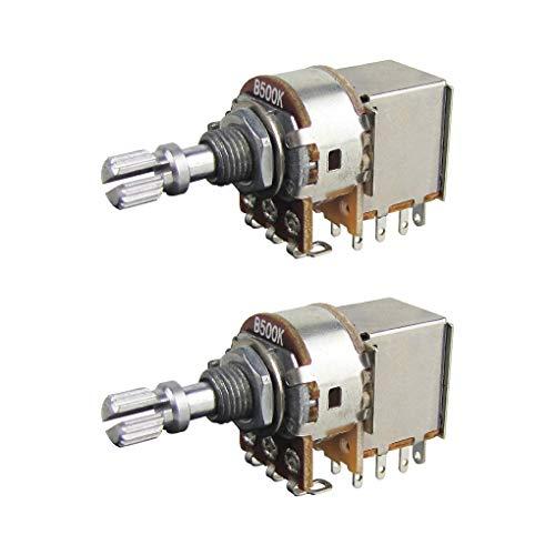 IKN Potenciómetros Push Pull B500K, potenciómetros cónicos lineales de 15 mm, eje...