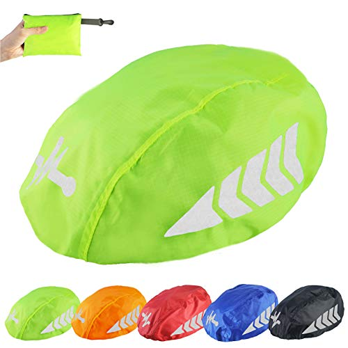 Frelaxy Fahrradhelm Regenüberzug, Wasserdichter Regenschutz Fahrradhelm, Helmüberzug Helm Cover Regenhülle Regenhaube Regencape mit Reflektoren
