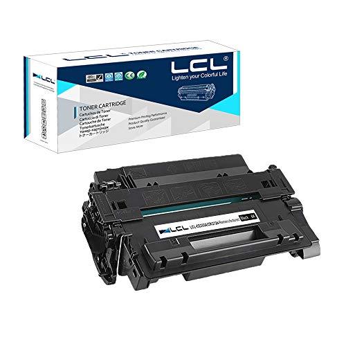 LCL Remanufactured Tonerkartusche 55A CE255A 724 CRG724 (1 Schwarz) Ersatz für HP Laserjet Enterprise P3015 Canon LBP6750dn 6710I