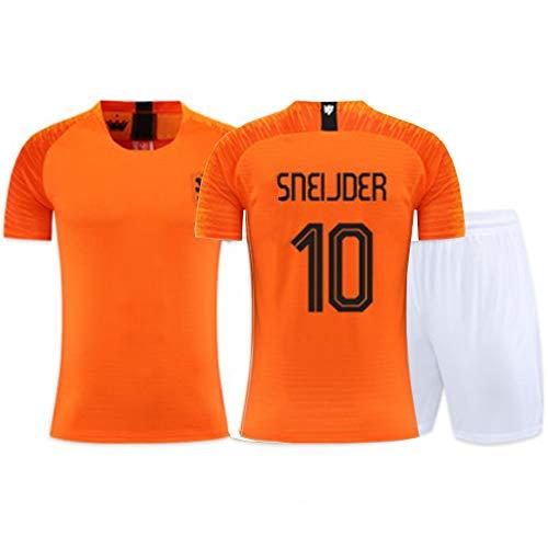 XH Herren Kinder Fußbälle Trikot-Set Unterhemd Wesley Sneijder # 10 Kurzarm, Kinder und Erwachsene Aller Größen (Color : B, Size : Children-160)