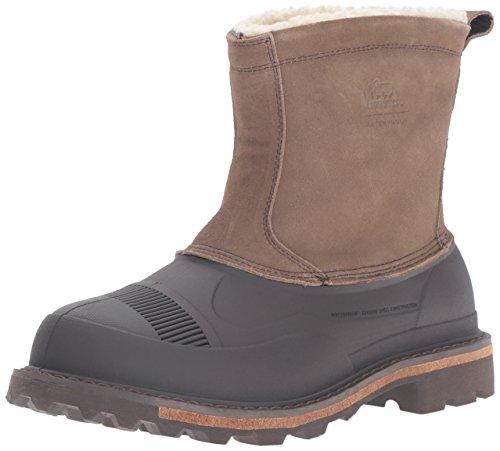 Woolrich Men's Fully Wooly Slip Snow Boot, Java/Tin Pan Suede, 12 M US