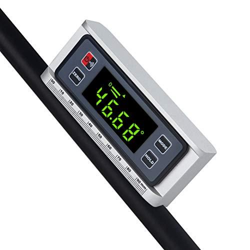 Digitaler Winkelmesser, Winkelmesser, Neigungsmesser, magnetisch, V-Nut 0 ~ 360 Grad, mit Hintergrundbeleuchtung