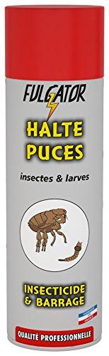 FULGATOR - Insecticide HALTE Puces - Action rapide et puissante contre les parasites des animaux domestiques comme les puces et leurs larves - Sans odeur ni retombées - Fabriqué en France - 500mL