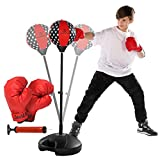 Clould fitness Punching Bag with Stand for Kids- Excellent Boxing Gloves, Perfect and Portable Design, Great Gift for Boys & Girls for Exercise and Fun Activities