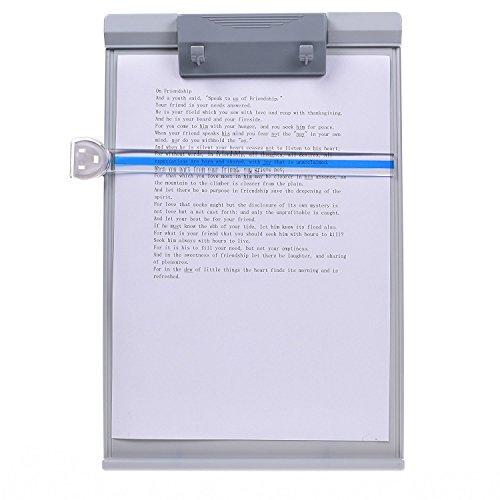 MMBOX Schreibtisch-Dokumentenhalter, Buchhalter, Manuskripthalter, verschiedene Winkel einstellbar, mit Leselinienführung, grau.