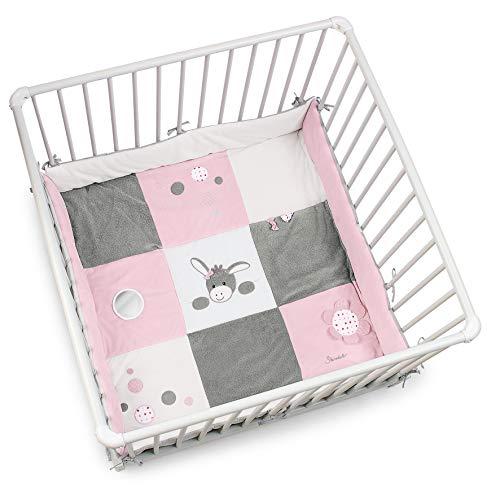 Sterntaler Laufgittereinlage, Esel Emmi Girl; Alter: Für Babys ab der Geburt, mehrfarbig, 100 x 100 cm