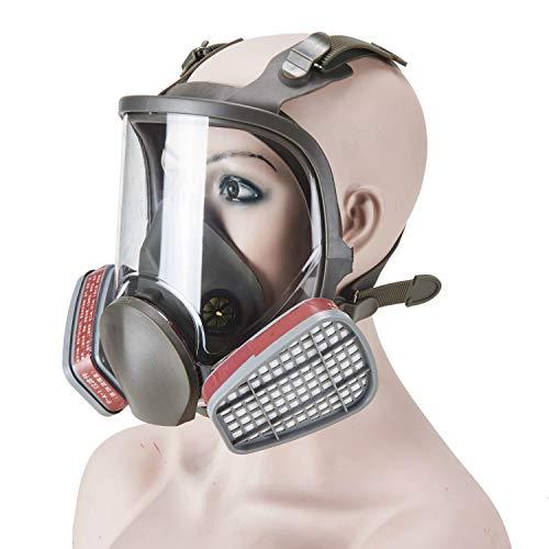 Holulo Full Face Respirator Reusable, Paint Mask...
