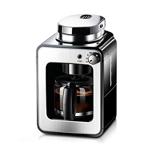 DWLXSH Automatic Coffee Machine,Wand Frothing Best for Pre-Ground or Whole Bean Coffee Stainless Steel Coffee Grinder Right Temperature Extraction