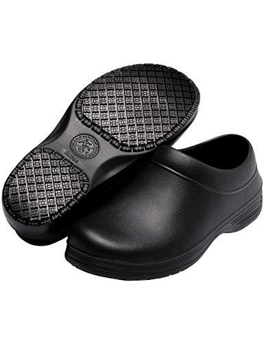 DisRun Non Slip Chef Shoes Non Slip Work Shoes for Women Black
