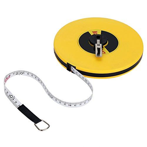 Cinta métrica, 50 metros Regla de medición de fibra de vidrio Herramientas de cinta larga Aproximadamente 627 g